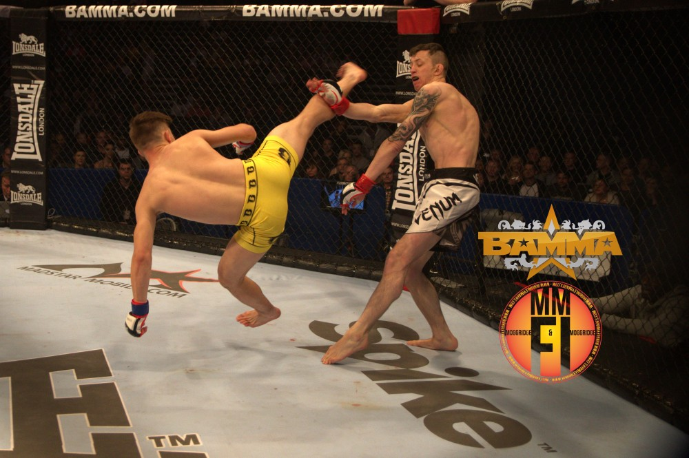 In action at BAMMA 20